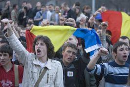 Gălăgie la Chişinău (foto: Mediafax)