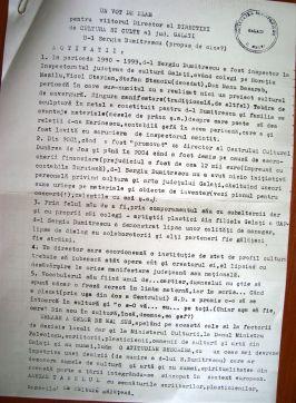 CV-ul lui Sergiu, întocmit de fostul său tovarăş Sterian Vicol