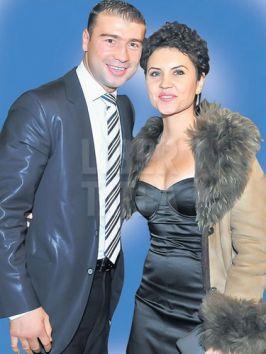 Lucian Bute, alături de Elena lui