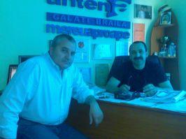 Groparul Antena 1 GL-BR, Florin Popescu (dreapta), alături de fostul viceprimar de Brăila, Lucian Ţilea