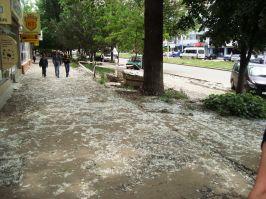 Nu a nins, doar a plouat cu puf de la plopi