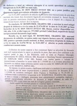 Un mic fragment din plîngerea penală făcută de ANAF la DNA Galați împotriva afaceristului Nicolai Boghici