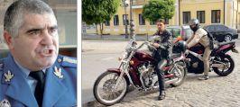 Col. Vasile Silion și doi dintre motocicliștii gălățeni care au avut de suferit la Brăila