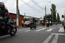 Coloana de motocicliști a mers prin toată Brăila