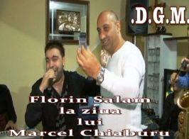 Chiaburu, filmîndu-l cu telefonul pe Florin Salam, la unul din chefurile interlopilor