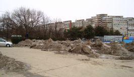 Aici l-a dus mintea pe primarul Nicolae să depoziteze zăpada adunată de pe străzile Galațiului