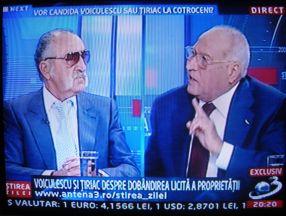 Țiriac și Voiculescu, la aceeași masă, în direct la Antena 3