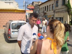 Viceprimarul Ciumacenco, simultan la microfoanele ProTV și TVR1