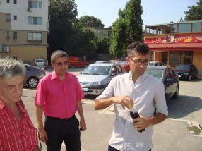 Din nou Ciumacenco, de data asta în fața Pizzeriei da-ISI