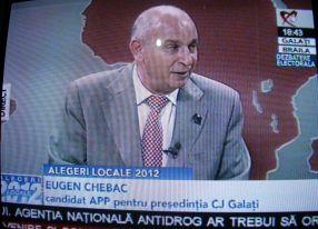 Eugen Chebac, în direct la Realitatea TV Galați-Brăila