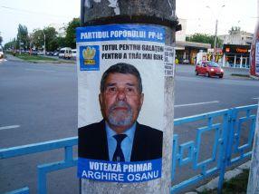 Arghire Oșanu va fi dat în judecată de acest stîlp pentru că i-a stricat imaginea