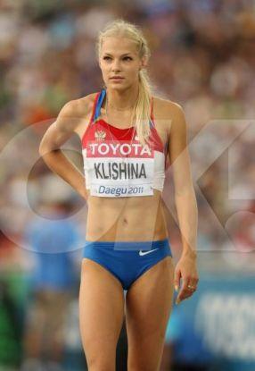 Darya Klishina pozată după ce a terminat concursul la săritura în lungime