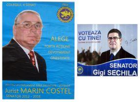 Marin Costel și Gigi Sechila, senatori pentru o lună
