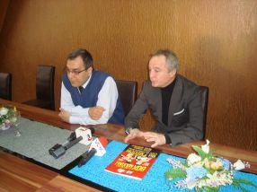 Mihai Costache și viceprimarul Radu Cosca