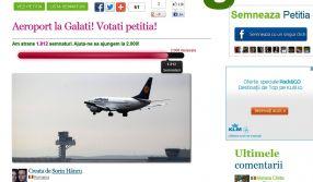 Petiție pe Facebook pentru aeroport la Galați