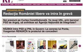 Comunicatul greviștilor a fost postat chiar pe site-ul ziarului România Liberă, deținut de Adamescu