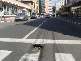 Surpare pe strada Nicolae Bălcescu din Galați