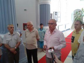 Fostul primar Dumitru Nicolae și actualul primar Marius Stan au fost prezenți la inaugurarea de astăzi