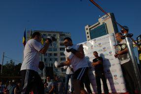 Cristian Hummer Ciocan, la antrenamentul cu public de astăzi, susținut pe Faleză