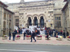 Studenții au protestat anemic, cam de nota 6