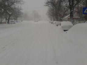 Zăpadă, cît mai multă zăpadă pe străzile din Galați