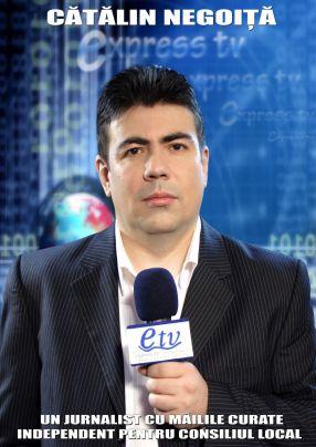 Cătălin Negoiță, în anul 2008, pe vremea cînd candida pentru un post de consilier local în Galați