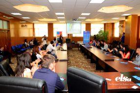"""ELSA Galaţi a organizat la Universitatea """"Danubius"""" un eveniment deosebit de important pentru tinerii gălăţeni: Conferinţa naţională cu tema Viziunea diplomatică a tinerilor în contextul ONU"""