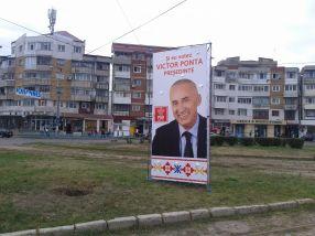 Un alt panou electoral cu Marius Stan a fost amplasat pe spațiul verde din Piața Energiei