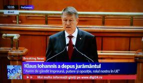 Klaus Iohannis a depus jurămîntul în fața Parlamentului
