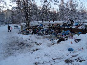 Un an nou și mai plin de gunoi vă urează Primăria Galați