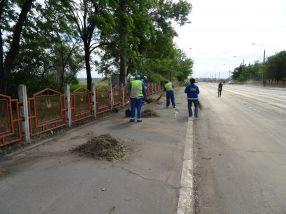 Operațiunea de renovare a Viaductului a început în forță, cu mătura și fărașul