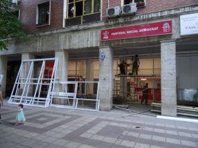 Geamurile au fost sparte la sediul PSD Galați
