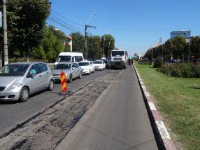 Str. Brăilei a intrat în reparaţii, la doi ani după ce a fost modernizată cu ''asfalt de autostradă''