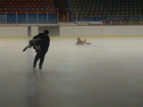 ''Avionul'' pe gheață