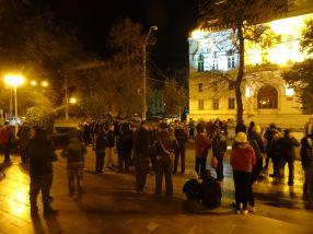 Protestatarii s-au răsfirat ca să pară mai mulți