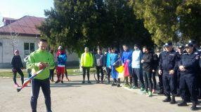 O poză de grup înainte de alergare