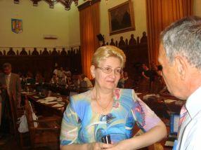 Tania Bogdan, în 2012, pe vremea cînd era vicepreședinte al Consiliului Județean Galați