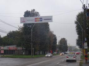 Un banner PSD a fost cocotat astăzi pe stîlpii de pe b-dul G. Cosbuc