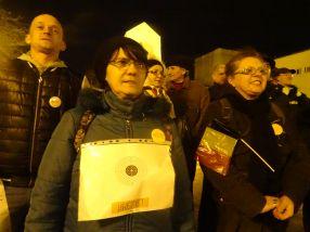 Protestatarii si-au pus tinte pe piept pentru a fi împuscati de deputatul PSD de Arges, Cătălin Rădulescu