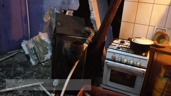Crash, boom, bang: soba unei case din centrul Galațiului a explodat