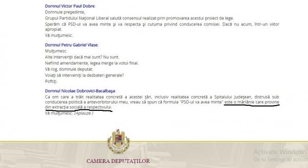 Bacalbașa l-a făcut mîrlan pe Victor Paul Dobre, în plenul Camerei Deputaților