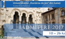"""Încep înscrierile pentru """"Admiterea 2017"""" la Universitatea """"Dunărea de Jos"""" din Galați"""