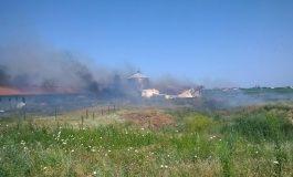 Un incendiu uriaș a pîrjolit un depozit de furaje din comuna Smîrdan