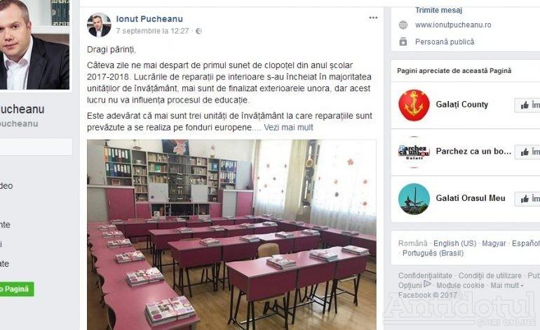 Din biroul primarului Pucheanu, situația școlilor este roz. Părinții spun că realitatea este maro!