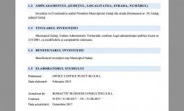 Primăria Galați dă peste 3000 de euro pe un studiu de fezabilitate elaborat în 2013