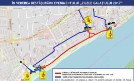 Restricții de trafic de Zilele Galațiului