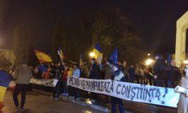 Gălățenii care nu au fost la cinematograful de la mall, au participat la protestul antiguvernamental