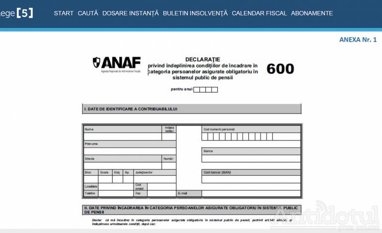 Declarația 600 nu moare: Guvernul a prelungit termenul de depunere a formularului