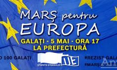 Marş de Ziua Europei, la Galaţi. Participanţii vor transporta un drapel uriaş al Uniunii Europene