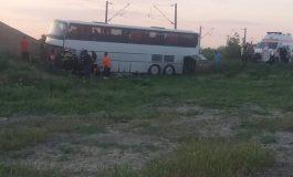 Un autocar și un autoturism, implicate într-un grav accident de circulație între Brăila și Galați. Opt persoane au fost duse la spital